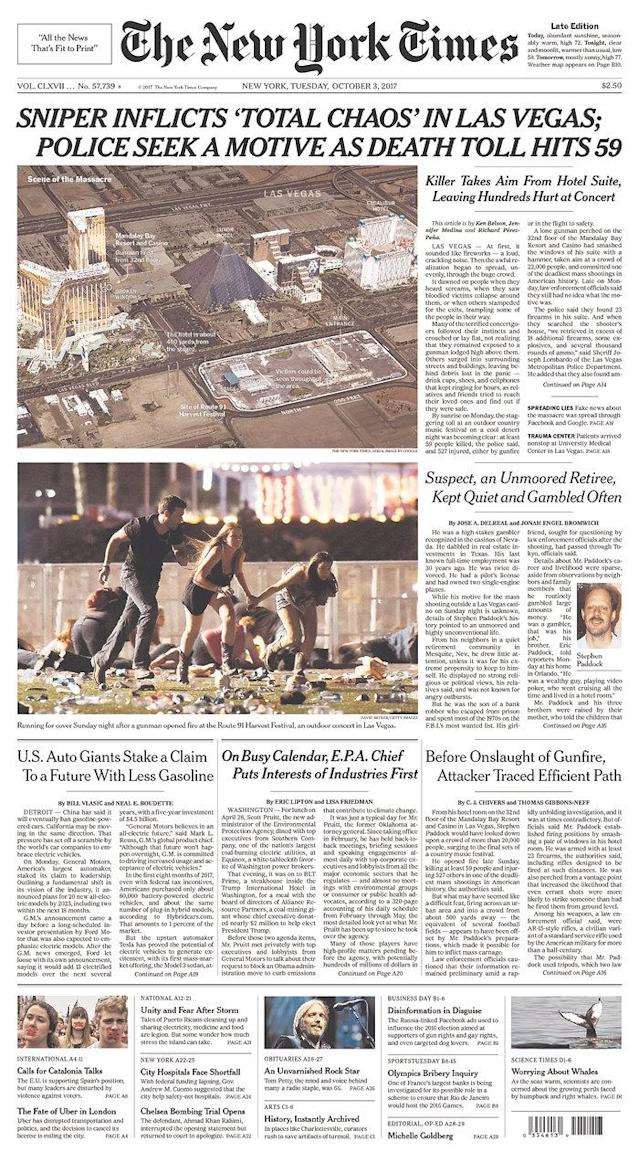 "<p>""The New York Times,"" published in New York, N.Y. (newseum.org) </p>"