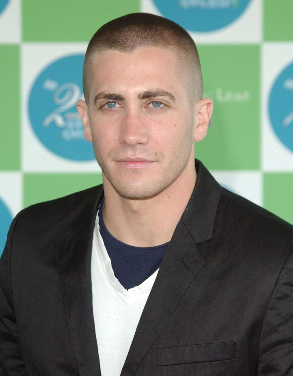 <p>In 2005, Gyllenhaal buzzed all his hair off for his role in <em>Jarhead. </em>Though his hair grew back in by the premiere, it wasn't the last time Gyllenhaal opted for a buzz. </p>