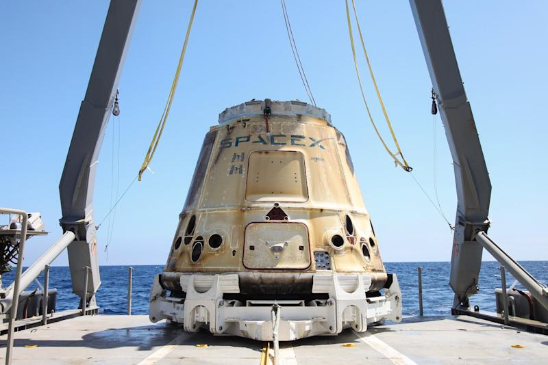 SpaceX Dragon from CRS-18
