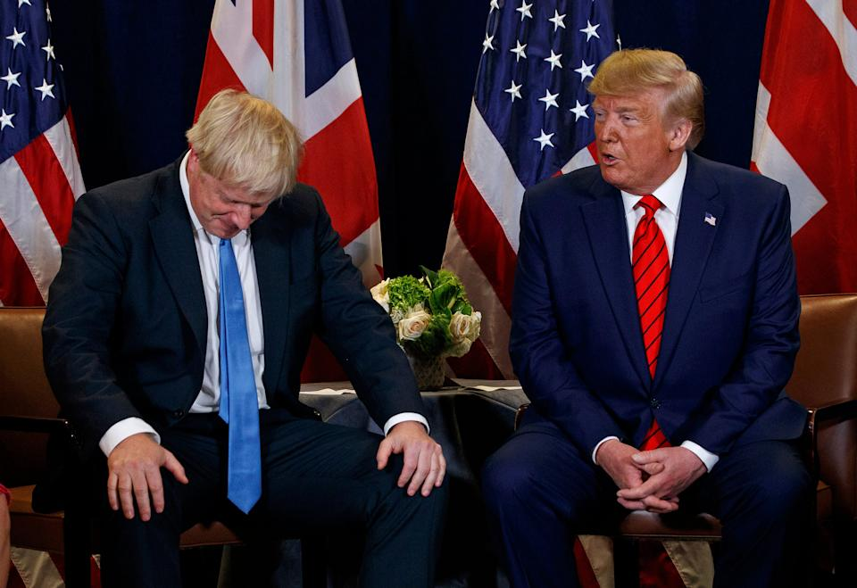 Boris johnson pictured with Donald Trump, the outgoing US presidentAP