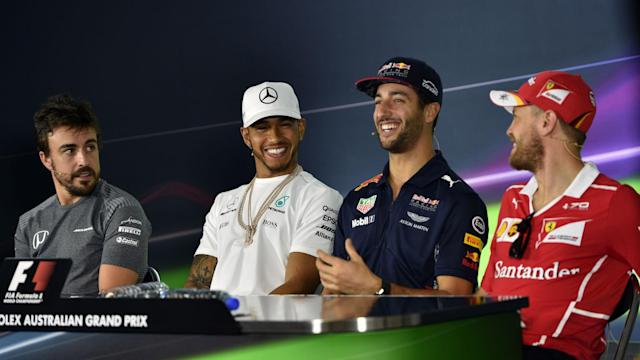 You're favourite...no you're favourite! Formula One is back and Lewis Hamilton and Sebastian Vettel have started the mind games.