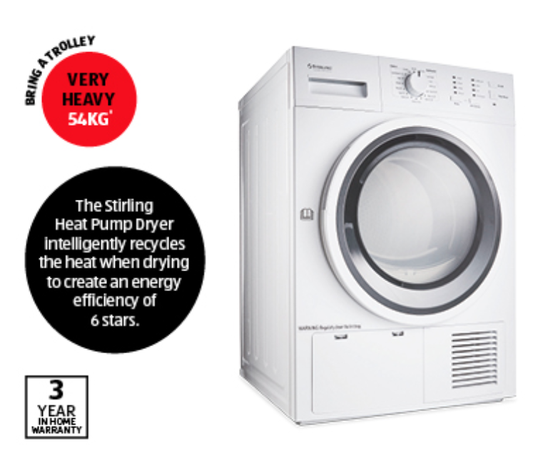 Aldi product picture for Stirling Heat Pump Dryer Special Buy