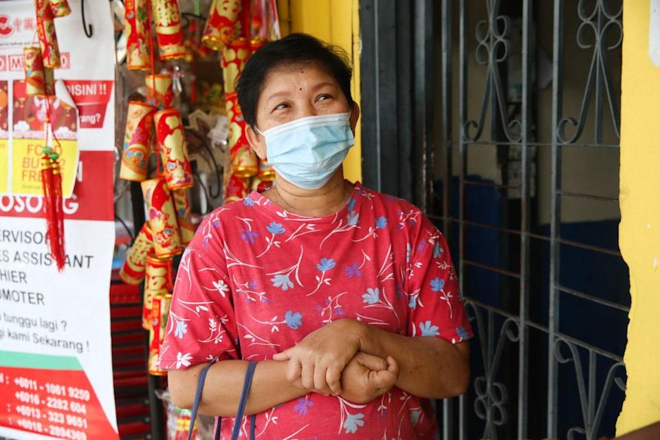 T. Jothi says she is ready to get vaccinated against Covid-19. — Picture by Choo Choy May