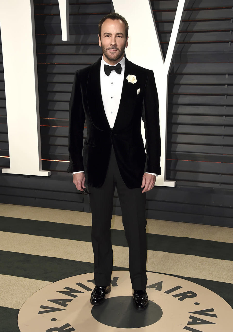 <p>Tom Ford arrives at the Vanity Fair Oscar Party on Sunday, Feb. 26, 2017, in Beverly Hills, Calif. (Photo by Evan Agostini/Invision/AP) </p>