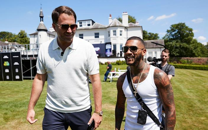 ** FREE FOR EDITORIAL USE *** Matchroom Fight Camp 2021 Launch Event 14 June 2021 Picture By Mark Robinson Matchroom Boxing Eddie Hearn Chairman of the Matchroom Sport Group and Conor Benn