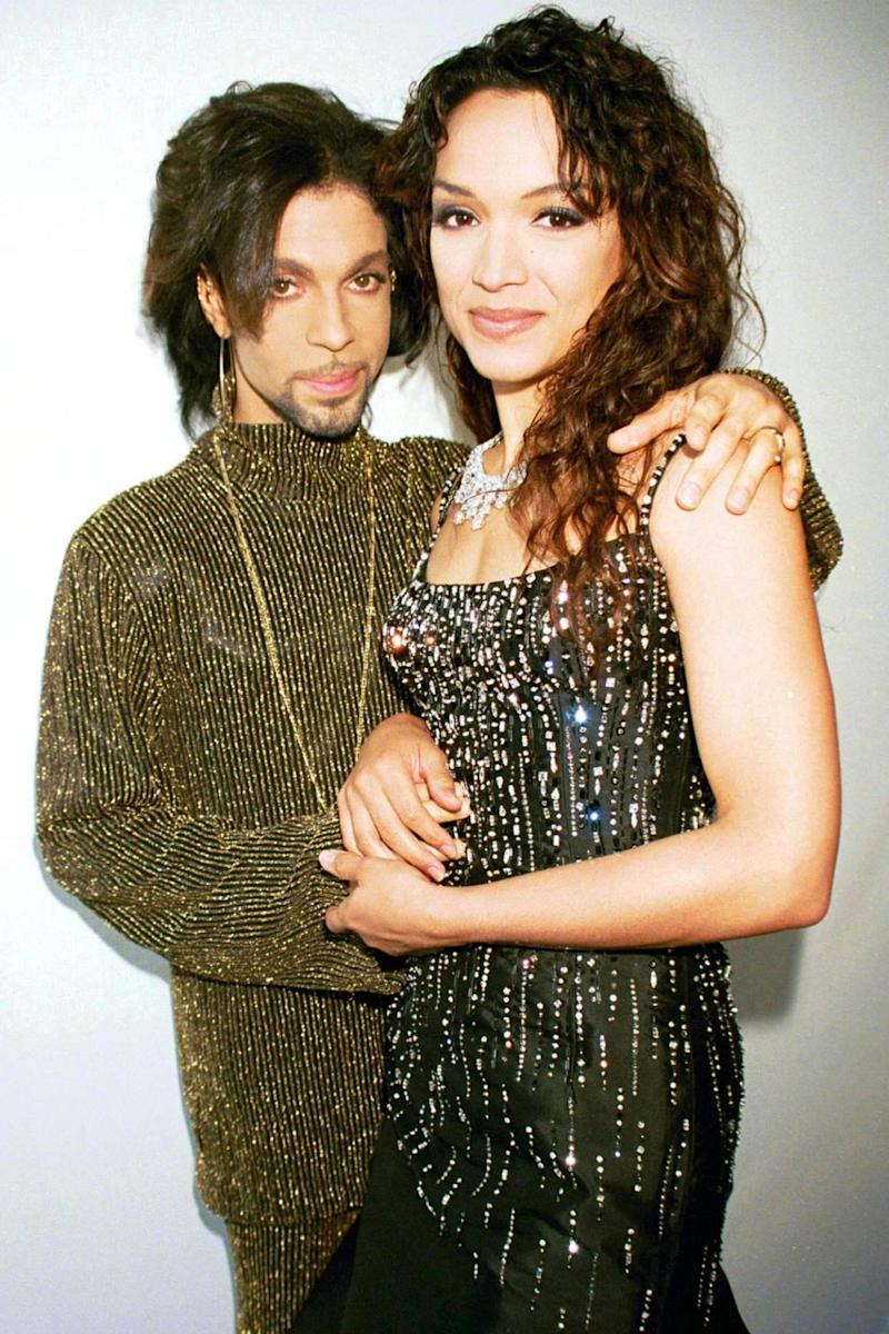 Prince and Mayte in happier times. (Photo: RICHARD YOUNG/REX/SHUTTERSTOCK)