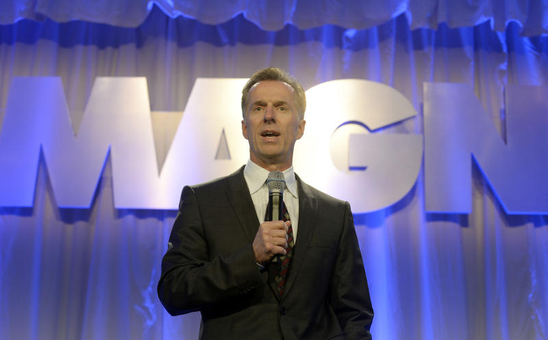 Magna CEO Don Walker speaks during the company's Annual Shareholder Meeting in Toronto, May 8, 2014. REUTERS/Aaron Harris (CANADA - Tags: BUSINESS TRANSPORT)
