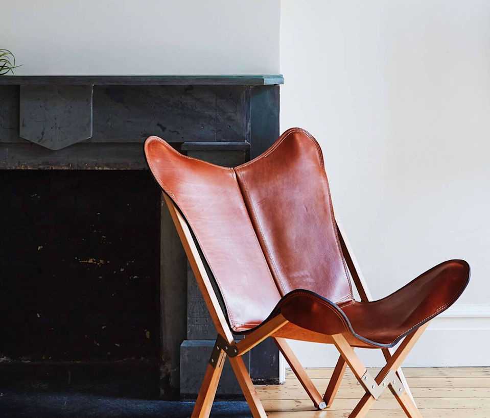 "<h2>The Citizenry</h2><br>When you buy from The Citizenry, you know exactly where your furniture came from and how it was made. This accent chair is crafted with 100% Argentinian vegetable-tanned polo saddle leather, hand-carved guindo wood, and is held together by iron hardware. Peruse the site's entire inventory (decor, bedding, rugs, etc.) for more eco-friendly finds. <br><br><em>Shop</em> <strong><em><a href=""http://thecitenzry.com"" rel=""nofollow noopener"" target=""_blank"" data-ylk=""slk:The Citenzry"" class=""link rapid-noclick-resp"">The Citenzry</a></em></strong><br><br><strong>The Citizenry</strong> Palermo Tripolina Chair, $, available at <a href=""https://go.skimresources.com/?id=30283X879131&url=https%3A%2F%2Fwww.the-citizenry.com%2Fproducts%2Fpalermo-tripolina-chair"" rel=""nofollow noopener"" target=""_blank"" data-ylk=""slk:The Citizenry"" class=""link rapid-noclick-resp"">The Citizenry</a>"
