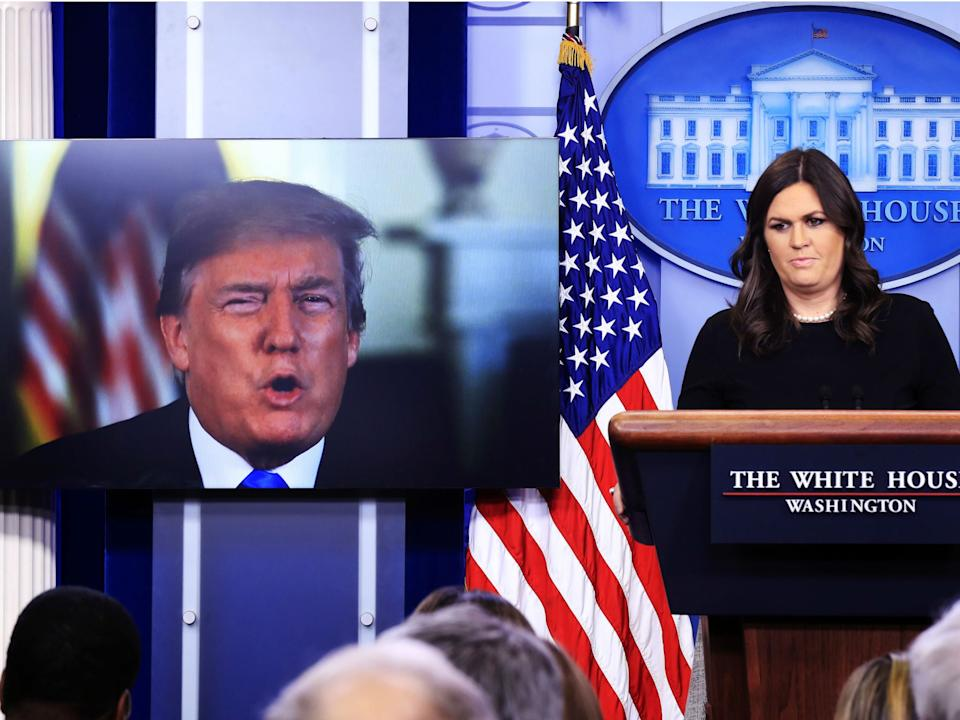 <p>Sarah Huckabee Sanders, who served as White House press secretary from 2017 to 2019, announced her run for governor of her home state of Arkansas</p> (AP Photo/Manuel Balce Ceneta)
