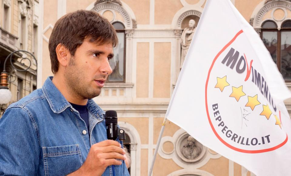 Trieste, Italy - September 26, 2015: Italian deputy of Parliament for Movimento Cinque Stelle, Alessandro Di Battista, pictured in Piazza della Borsa during his political meeting with the citizens and voters of Trieste, on September 26, 2015 (Photo: EnkiPhoto via Getty Images)