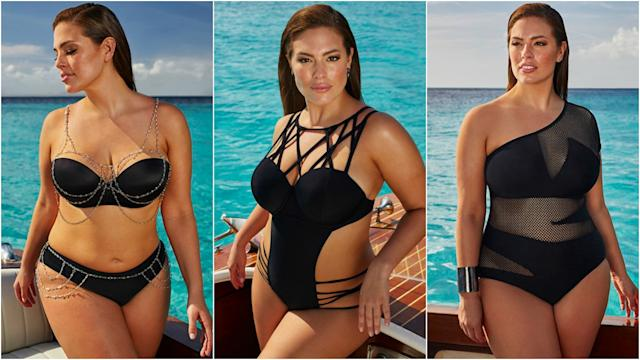 6f8c2cafa Ashley Graham Models Her Sexy New Swimsuit Line for Women With Curvy  Figures -- See the Pics!