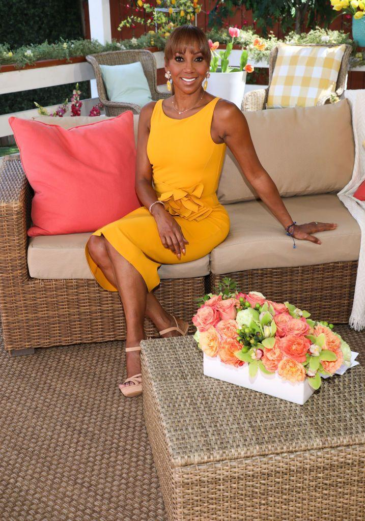"""<p>Peete is undeniably fit and yet she keeps it simple with workouts at home. """"I can't do trainers. I have a stair stepper at home, and I do Pilates,"""" she told <a href=""""https://www.aarp.org/health/healthy-living/info-2014/holly-robinson-peete.html"""" rel=""""nofollow noopener"""" target=""""_blank"""" data-ylk=""""slk:AARP"""" class=""""link rapid-noclick-resp""""><em>AARP</em></a>.</p>"""