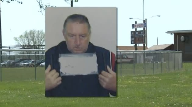 49-year-old high school umpire Daryl Jacobson, who was arrested after passing out during a game — WQED screenshot