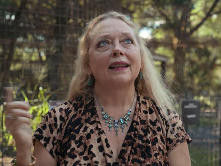 <p>Carole Baskin posted a video on her Instagram page appealing for information about the missing tiger in Texas and offered a large reward</p> (Netflix)