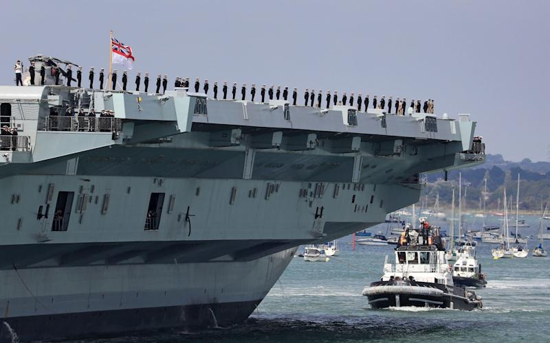 HMS Queen Elizabeth is due to be deployed to the Asia Pacific region - PA