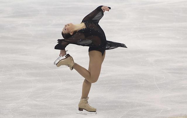 Elizaveta Tuktamysheva of Russia performs during her ladies' short program event of the Cup of China ISU Grand Prix in Shanghai on November 7, 2014 (AFP Photo/)