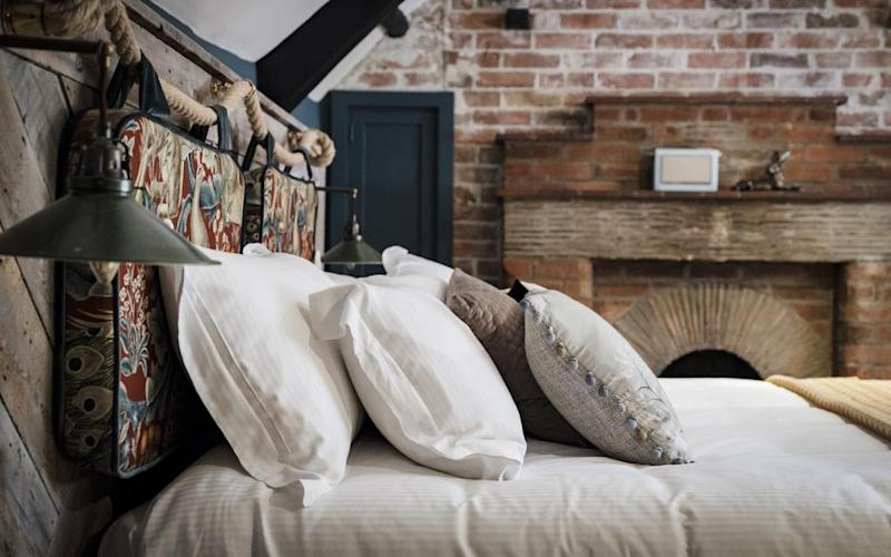 At The Castle Inn, near Lulworth Cove in Dorset, great food and a traditional exterior are the high points in an otherwise contrived refurbishment.
