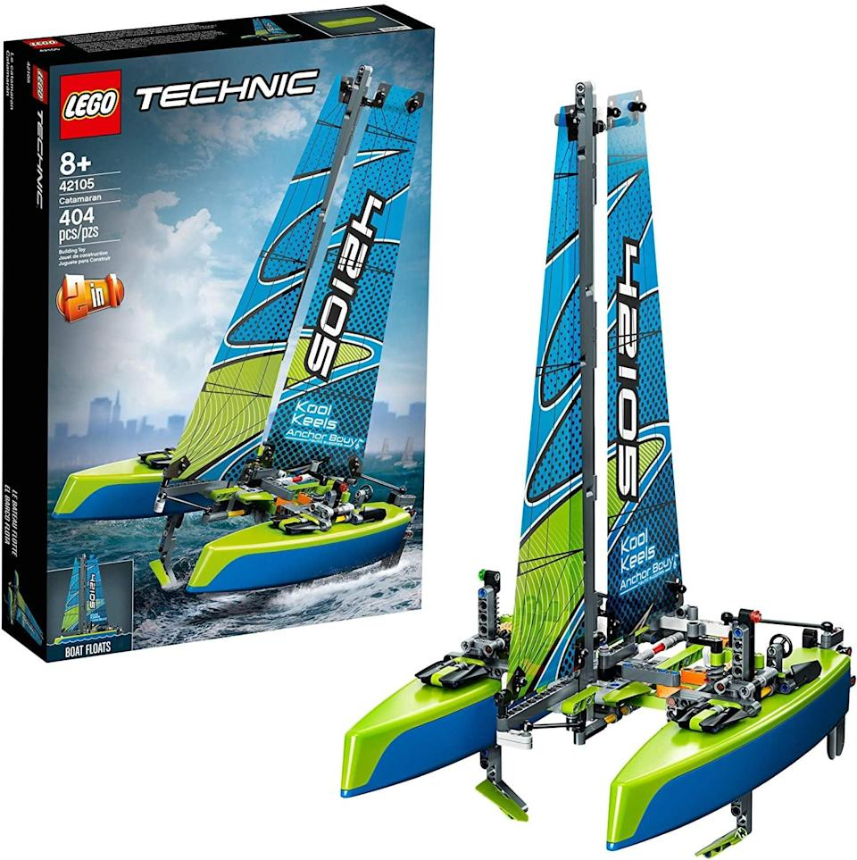 "<p>The <a href=""https://www.popsugar.com/buy/Lego-Technic-Catamaran-551174?p_name=Lego%20Technic%20Catamaran&retailer=amazon.com&pid=551174&price=50&evar1=moms%3Aus&evar9=47244751&evar98=https%3A%2F%2Fwww.popsugar.com%2Ffamily%2Fphoto-gallery%2F47244751%2Fimage%2F47244768%2FLego-Technic-Catamaran&list1=toys%2Clego%2Ctoy%20fair%2Ckid%20shopping%2Ckids%20toys&prop13=api&pdata=1"" class=""link rapid-noclick-resp"" rel=""nofollow noopener"" target=""_blank"" data-ylk=""slk:Lego Technic Catamaran"">Lego Technic Catamaran</a> ($50) has 404 pieces and is best suited for kids ages 8 and up.</p>"