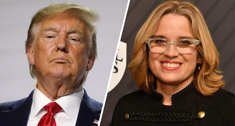 President Trump and San Juan Mayor Carmen Yulín Cruz. (Photos: Ludovic Marin/AFP/Getty Images; Slaven Vlasic/Getty Images for Sports Illustrated)