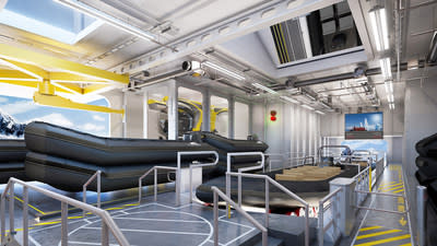 An industry first, The Hangar on Viking's new expedition vessels brings true comfort to expedition cruising. This enclosed, in-ship marina permits the launch of small excursion craft through the ship's multiple shell doors. The Hangar's most innovative feature is an 85 ft. slipway that allows guests to embark on RIBs from a flat, stable surface inside the ship, shielded from wind and waves. For more information, visit www.viking.com.