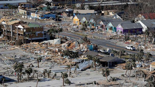 PHOTO: In this Oct. 12, 2018, file photo, debris from homes destroyed by Hurricane Michael litters the ground in Mexico Beach, Fla. (Gerald Herbert/AP, FILE)