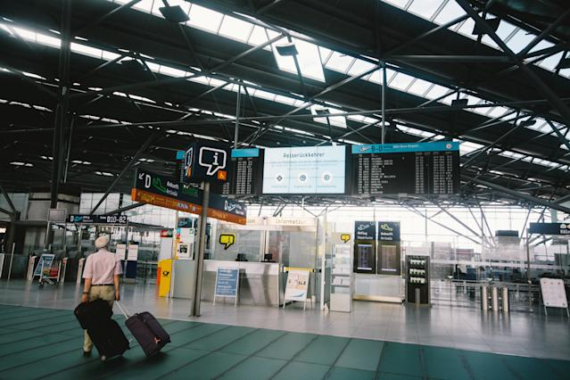 Cologne Bonn airport, Germany. Photo: Ying Tang/NurPhoto via Getty Images