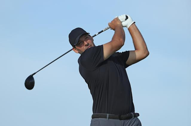 "Former <a class=""link rapid-noclick-resp"" href=""/nfl/teams/dal"" data-ylk=""slk:Dallas Cowboys"">Dallas Cowboys</a> quarterback Tony Romo reached the Web.com Tour's first stage qualifier on Friday, taking the final spot at a pre-qualifier event. (Getty Images)"