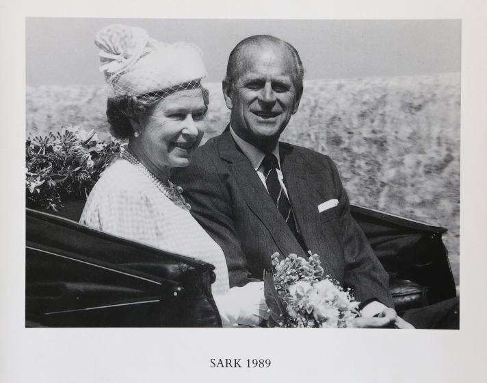 <p>In 1989, the Queen and Prince Philip posed for a black-and-white picture during a trip to Sark, Guernsey. </p>