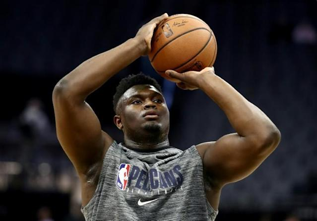 Injured New Orleans Pelicans rookie forward Zion Williamson is expected to return from right knee surgery for the NBA club next Wednesday at home against San Antonio, team vice president of basketball operations David Griffin said Wednesday (AFP Photo/EZRA SHAW)