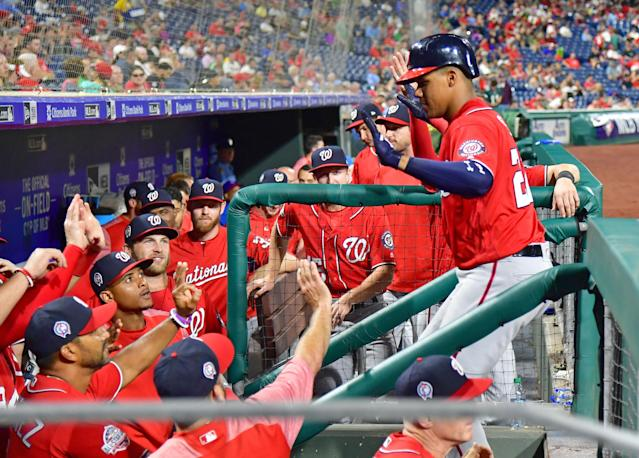 <p>Juan Soto continues his bid for Rookie of the Year while moving on up the record books. </p>