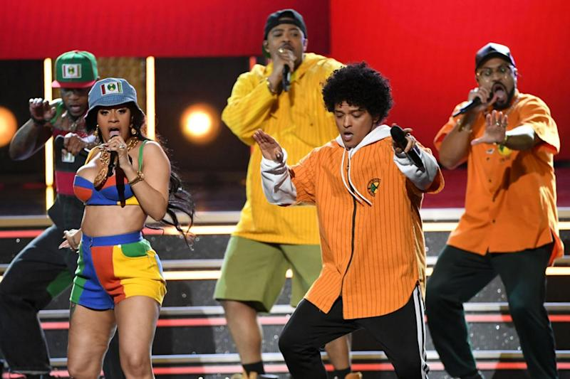 Tour: Cardi B had been due to join Bruno Mars on the last leg of dates (Kevin Winter/Getty Images for NARAS)