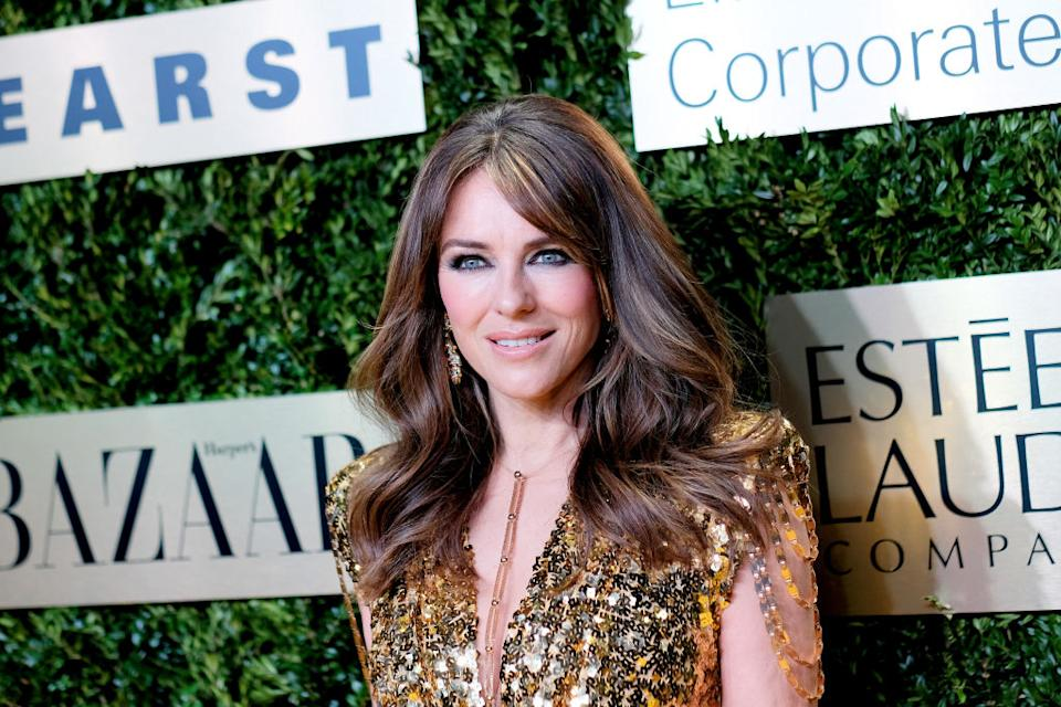 Elizabeth Hurley has lit up Instagram by sharing a topless snapshot in the snow, pictured in November 2019. (Getty Images)