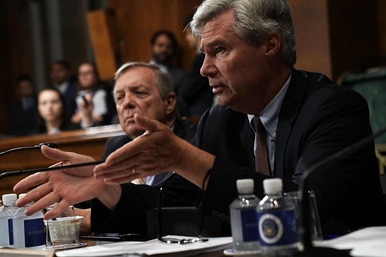 "Kavanaugh told Sen. Sheldon Whitehouse (D-R.I.) that a ""boof"" is a fart. That's not what Kavanaugh's former classmates said it means. (Photo: Alex Wong via Getty Images)"