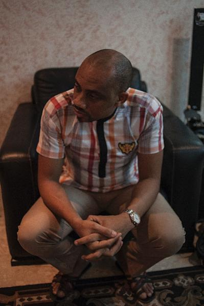 Founder of Comic Republic, Jide Martins, speaks during an interview with AFP, in Lagos (AFP Photo/Stefan Heunis)