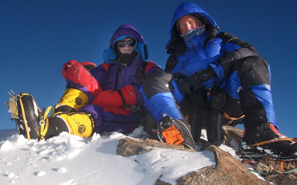 Rick Allen, left, and Sandy Allan on Mazeno Ridge in Pakistan in 2012: the two climbers had a combined age of 112 years - PA