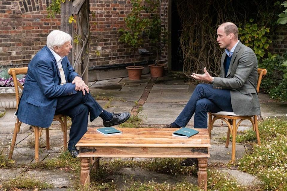 Sir David Attenborough is a member of Earthshot Prize judging panel as is William (Kensington Palace/The Earthshot Prize/PA) (PA Media)