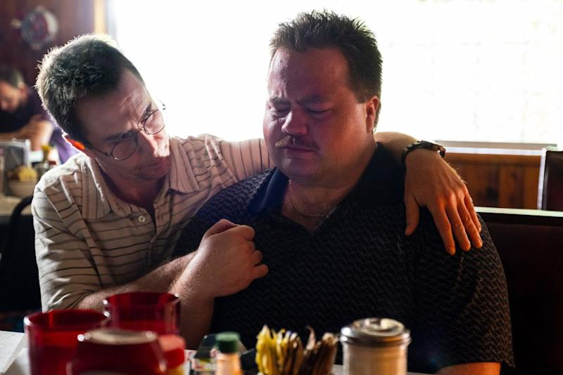 Sam Rockwell as Watson Bryant (left) with Paul Walter Hauser as Richard Jewell in Clint Eastwood's Richard Jewell | Claire Folger/Warner Bros