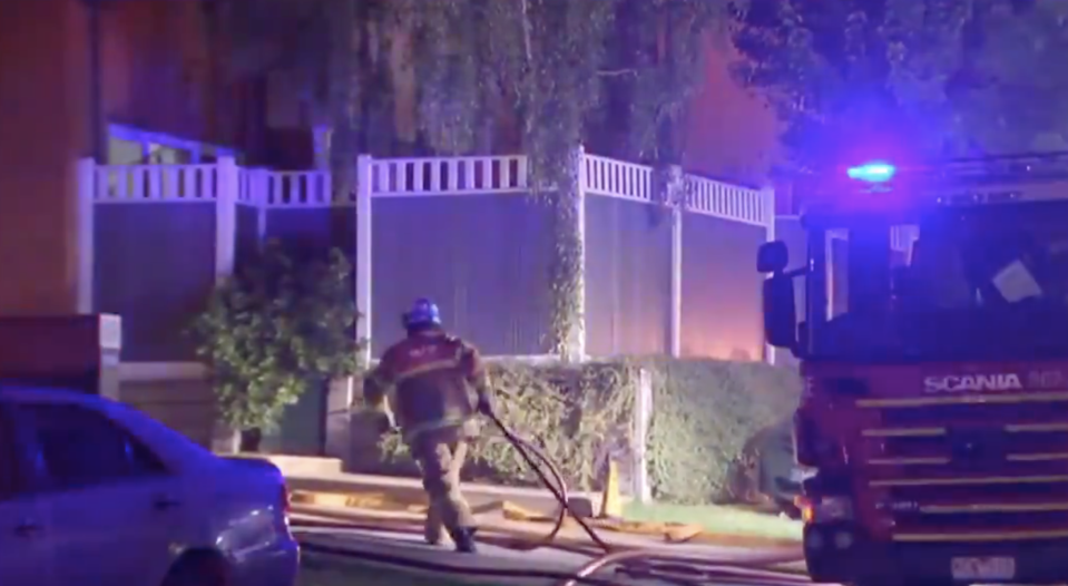 Firefighters respond to a house fire in Glen Waverely.