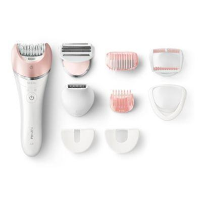 "<h3>Philips 10-Piece Epilator Kit</h3> <br>The slightly elongated handle helps you reach those hard-to-get spots, like the sides of your ankles, toes, or upper back.<br><br><strong>Philips</strong> 10-Piece Epilator Kit, $, available at <a href=""https://go.skimresources.com/?id=30283X879131&url=https%3A%2F%2Fwww.bedbathandbeyond.com%2Fstore%2Fproduct%2Fphilips-10-piece-epilator-kit%2F1045911972%3F"" rel=""nofollow noopener"" target=""_blank"" data-ylk=""slk:Bed Bath & Beyond"" class=""link rapid-noclick-resp"">Bed Bath & Beyond</a><br>"