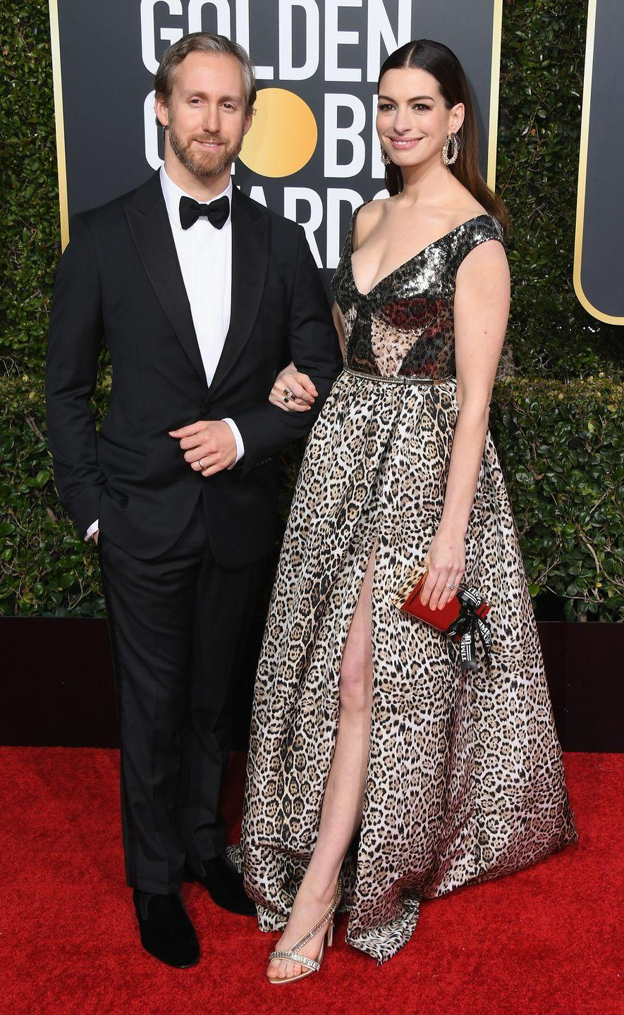 <p>Anne Hathaway and her jewelry designer husband, Adam Shulman, met in 2008 at the Palm Springs Film Festival. The couple got married in a ceremony in Big Sur, California in 2012. They have two children together.</p>