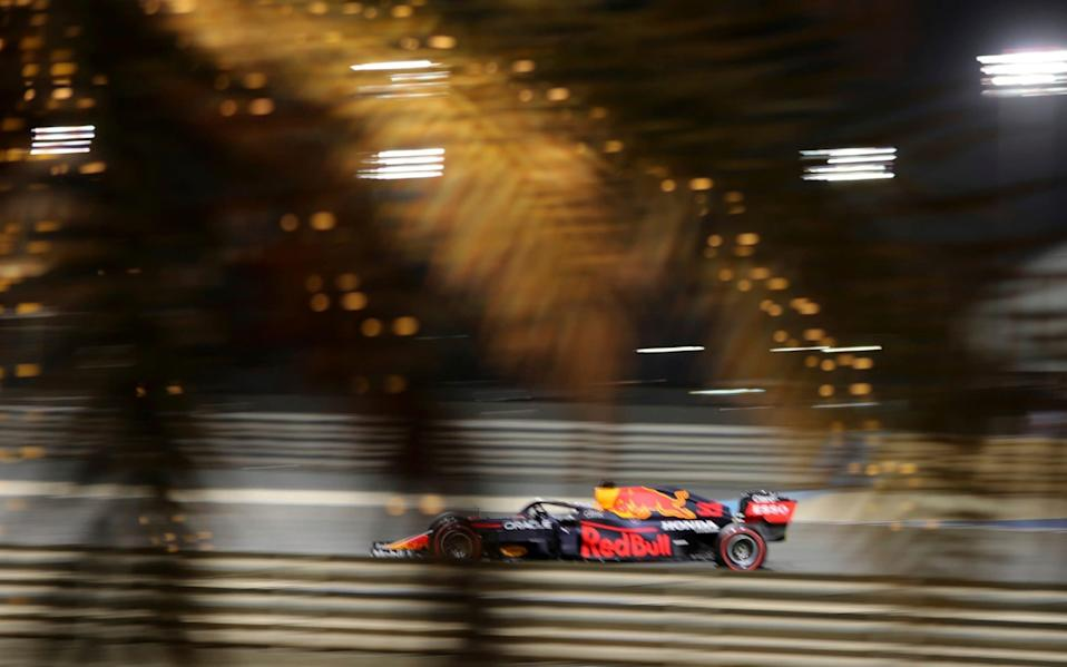 Red Bull driver Max Verstappen of the Netherlands steers his car during the second free practice at the Formula One Bahrain International Circuit in Sakhir, Bahrain, Friday, March 26, 2021. The Bahrain Formula One Grand Prix will take place on Sunday - AP/Kamran Jebreili