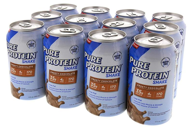 Pure Protein Ready to Drink Shakes (12 count). (Photo: Amazon)