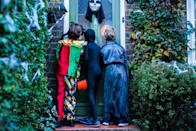 """<p>Answer: According to History.com, the tradition of dressing up as our favorite celebrities, cartoon characters, and superheroes stems from the ancient festival Samhain where people would dress up in animal heads and skins <a href=""""https://www.history.com/topics/halloween/history-of-halloween"""" rel=""""nofollow noopener"""" target=""""_blank"""" data-ylk=""""slk:to keep ghosts away"""" class=""""link rapid-noclick-resp"""">to keep ghosts away</a>. </p>"""