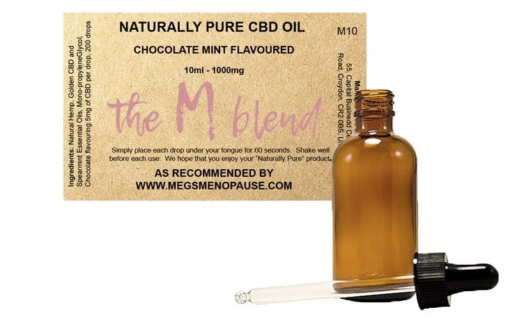 Meg Matthews sells her own blend of CBD oil on her website, MegsMenopause