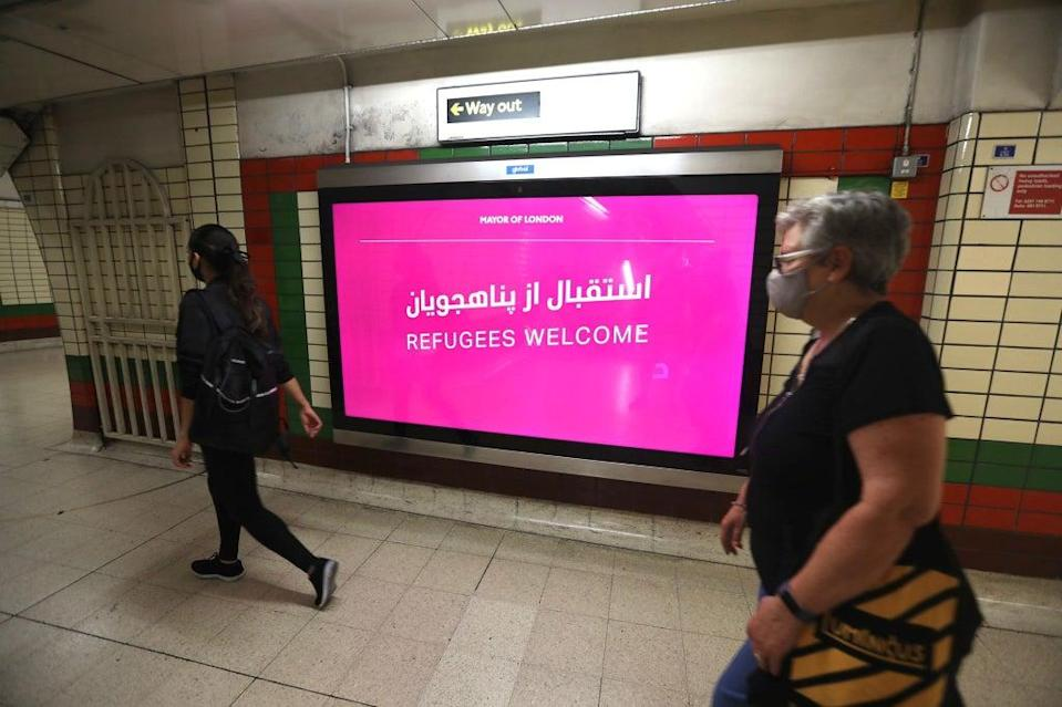 Messages welcoming refugees launched across the TfL network (City Hall)