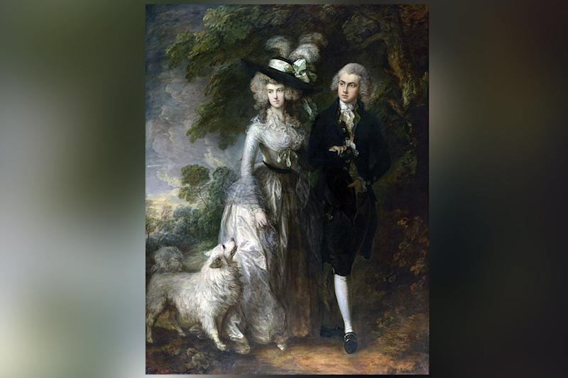National Gallery: Gainsborough painting The Morning Walk was damaged: National Gallery