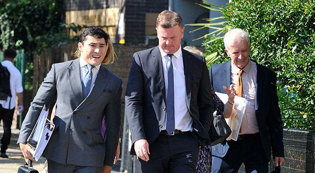 Anthony Bell arrives at Waverley Court in Sydney on Friday, February 17. Photo: AAP
