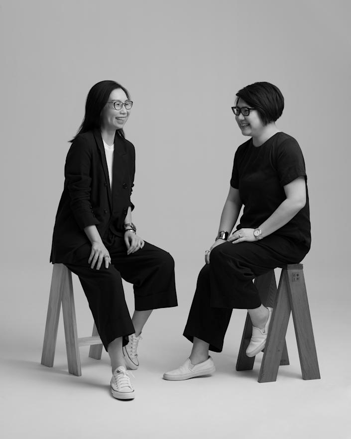 PHOTO: Nana and the bird.  The founders (from left to right): Georgina and Chiew Ling.