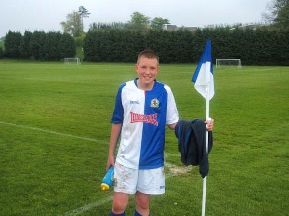 <p>Here's one of England's lads in Blackburn Rovers kit as a young gun at Ewood Park. </p>