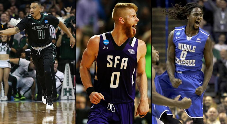 Hawaii (13), Stephen F. Austin (14) and Middle Tennessee State (15) all pulled upsets in 2016.